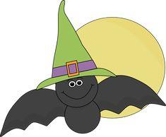 Halloween Bat and Full Moon