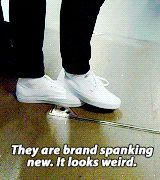 haha i love this part! I do the same to my shoes (gif)