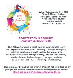 7aaaedc6d KIDS ART WORKSHOP 🎨 This event is a fun, learning experience for children!