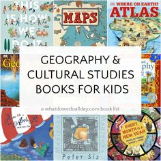 List of geography books for kids and picture books, atlases, poetry and nonfiction books that support geography lessons and cultural studies. Geography For Kids, Geography Lessons, World Geography, Cultural Studies, Social Studies, Teaching Culture, Atlas Book, Wordless Book, Thinking Maps