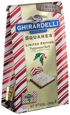 Ghirardelli Chocolate Squares, Limited Edition Peppermint Bark,9.3-Ounce Packages (Pack of 2) #GhirardelliChocolate