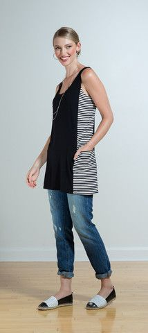 Lesia reversible pocket tunic/coverup