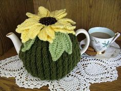 Sunflower Teacosy by BritmericaLane on Etsy, $24.99