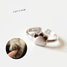 🤞 design of Engagement Jewelry, Wedding Engagement, Silver Cat, Handmade Rings, Gifts For Pet Lovers, Pet Accessories, Girl Gifts, Ring Designs, Heart Ring