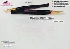 #Eyelash_Extension_Tweezer •• New Arrival••✨ BLACK, GOLD Tip Plasma Color Coated  • Place your order in my inbox   Customize Options : •#LASER_ENGRAVED_BRANDING •#CUSTOM_PATTERN_DESIGNING • #MULTIPLE_COLORS • #CUSTOM_PACKING  Contact us for Catalouge With #PRICE List Whatsapp: 0092 3338665257 www.fatimabent.com  #professionallashes #professionallashesextension #professionallashtech #eyelashextensionsperth #atllashartist #lashesmiami #luxuryminklashes #lashestoronto #lashesonfleek #lashesusa Nail Cuticle, Gold Tips, Price List, Professional Hairstyles, False Eyelashes, Eyelash Extensions, Laser Engraving, Beauty Care, Black Gold