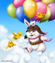 Flying rabbit by ~LiaSelina on deviantART