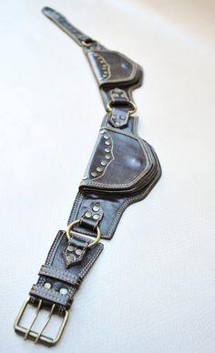 Cinturon de Cuero con Bolsillos CAMBRIA por ELLKO en Etsy