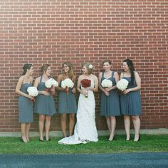 Gray bridesmaid dresses // photo by: Kristi Wright Photography // Bridesmaid Looks: Brickhouse Bridal