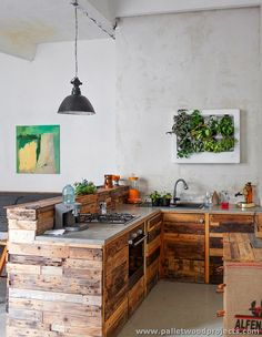 Kitchen is the most basic room of every home. To make your kitchen pretty yet more useful is quite a big task but you can do this task easily by making some kitchen installations made up of wooden palletsSwing Bed Made from Wooden Pallets. Read more ... » . Pallet woods are easy to handle …