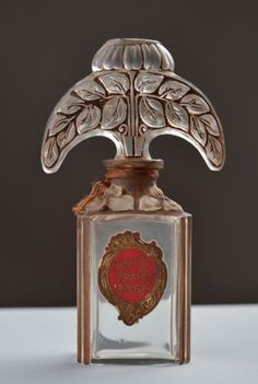 OLD-FRENCH-VIARD-GLASS-PERFUME-BOTTLE-VIOLETE-DE-FRANCE-BACCARAT-LALIQUE