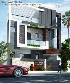 House Outer Design, House Outside Design, House Front Design, Modern Exterior House Designs, Latest House Designs, Modern House Design, 3 Storey House Design, Bungalow House Design, Home Building Design