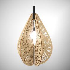 Plywood lustre Paisley, wooden lustre, wooden lamp, bedroom lighting, beautiful lighting, wooden pendant