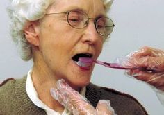 Oral Care for patients with Dysphagia. Repinned by SOS Inc. Resources pinterest.com/sostherapy/.