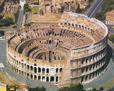 The colosseum of Rome - I went inside and remember a lot of cats. A LOT OF CATS.