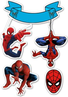 Topper de bolo do homem aranha