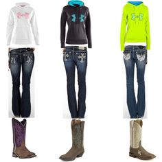 Ha! Basically got this outfit! Under Armour, Miss Me, and boots!