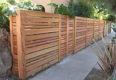 Another nice fence, but needs to be very level or the horizontal effect is diminished.  No stepping down a hillside.