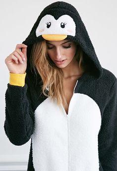 Plush Penguin Jumpsuit | Forever 21 - 2000141579