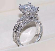 Cheap Wedding Rings, Wedding Rings Vintage, Wedding Rings For Women, Bridal Rings, Wedding Ring Bands, Wedding Jewelry, Trendy Wedding, Large Wedding Rings, Beautiful Wedding Rings