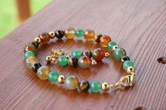 Agate Jewelry Tiger Eye stone Jewelry set by JLEJewels on Etsy, $56.50