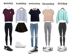"""""""Outfits for school"""" by dani-234 ❤ liked on Polyvore featuring NIKE, Neil…"""