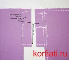 Детали передних половинок брюк с цельнокроеными подзорами