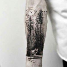 Bear Tattoos, Love Tattoos, Beautiful Tattoos, Body Art Tattoos, Hand Tattoos, Tattoos For Guys, Cool Forearm Tattoos, Forearm Tattoo Design, Wolf Tattoo Sleeve