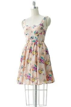LC Lauren Conrad Floral Dress  I love how it flares when I dance! Great for weddings!