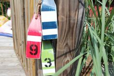 Nautical 3 Buoy String Custom Numbers and Colors by justbeachyshop, $31.50