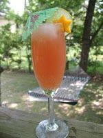 Sunrise Punch 2 c. pineapple juice 2 c. cranberry juice 1 (11.5 oz.) can apricot or mango nectar 1/2 c. FRESH lime juice (about 4-5 limes) 2 12-oz. cans ginger ale (or 3 c.)