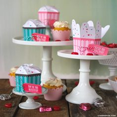 Printbale cupcake treat boxes