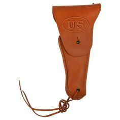 Generic Men's WW2 US Colt 1911 M1916 Army Leather Pistol Holster 27x13 Brown