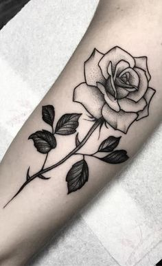 Outstanding tattoos ideas are offered on our internet site. - Outstanding tattoos ideas are offered on our internet site. Single Rose Tattoos, Rose Tattoos For Men, Black Rose Tattoos, Trendy Tattoos, Cute Tattoos, Beautiful Tattoos, Tattoos For Guys, Tatoos, Feather Tattoos