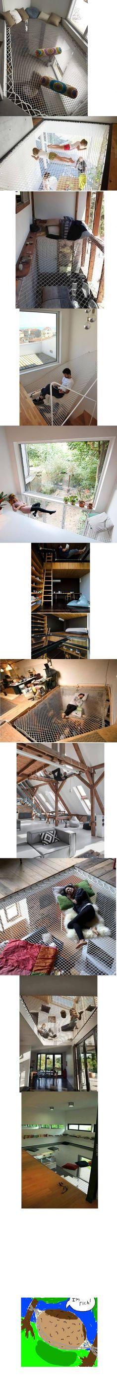 Hammock nets on Houses