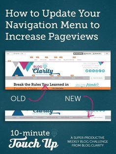 Use these tips to make your navigation menu drive more blog traffic