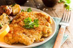 Wiener Schnitzel mit Kartoffelspalten