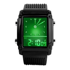 Cheap montre led, Buy Quality montre digital directly from China montre men Suppliers: Unisex Dual Display Wristwatches Womens Mens Digital Led Chronograph Quartz Sport Wrist Watch Silicon Rubber Band Clock montres Smartwatch, Cool Watches, Watches For Men, Women's Watches, Wrist Watches, Luxury Watches, Fashion Watches, Jump The Shark, Waterproof Sports Watch