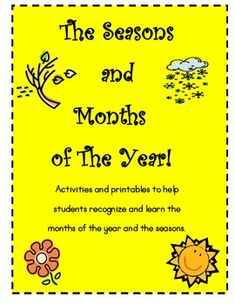 This is a great little collection that includes cut-n-paste activities, months and seasons headers,matching cards, a blank calendar page, and a swe. Blank Calendar Pages, Seasons Activities, Water Cycle, Matching Cards, Cut And Paste, Severe Weather, Months In A Year, Anchor Charts, Headers