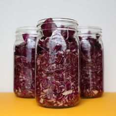 For those on your list who enjoy fermented foods, make some homemade gingery red cabbage sauerkraut.