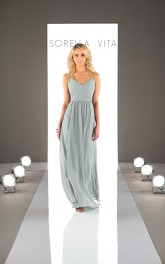 Chiffon Floor Length Bridesmaid Dress | Sorella Vita