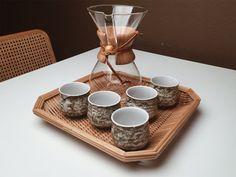 MID CENTURY JAPANESE // Handmade Set of Five by bohemianharvest