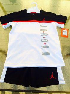kids clothes NIKE AIR JORDAN JUMPMAN BOYS 2 PIECE OUTFIT Shirt & Shorts SZ 6 new #JORDAN #Everyday