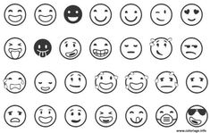 Coloriage emoji list Dessin à Imprimer
