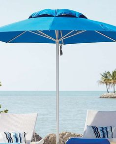 Durable and handsome enough for year-round use, the Octagonal Outdoor Contract Umbrella is easy to operate and conveniently protects you and your guests from sun or rain.
