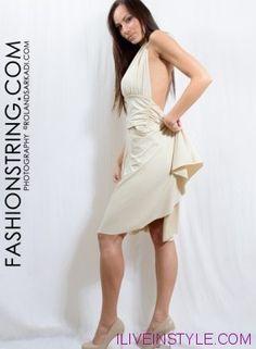 Krém egeszruha Fashionstring női ruha webáruház-webstore Roland Sarkadi címlap fotós model: Ricza Nicoletta