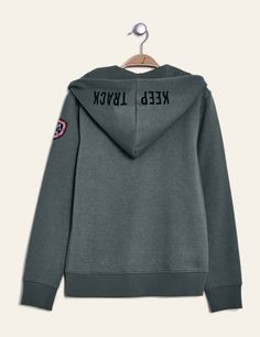 Sweat zippée à capuche kaki femme • Jennyfer