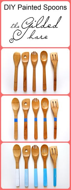 diy ombre painted spoons via the gilded hare