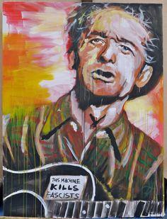 WOODY GUTHRIE - LIVE PAINT SARZANA #arte #quadri #art #paintings #francori #modena #musica #music  Visita il mio sito: www.francori.it
