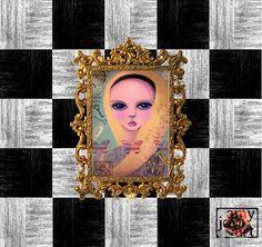 Alice Original Art PRINT Mixed Media Art Acrylic by AmyJoyArt