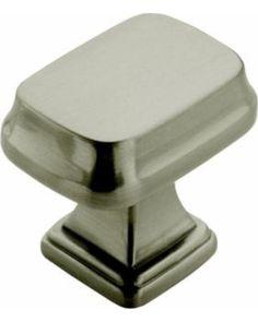 Amerock Cabinet Knobs: Amerock Drawer Hardware Revitalize 1-1/4 in. Satin Nickel Rectangle Cabinet Knob BP55340-G10 from HomeDepot | BHG.com Shop